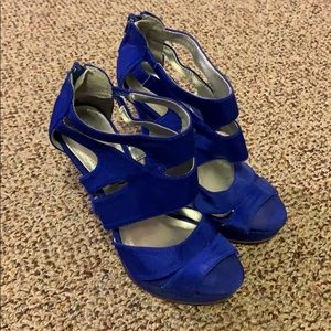 Blue suede stiletto heels - 6